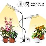 LED Grow Light for Indoor Plant, 45W Sunlike Full Spectrum Plant Light, Dual