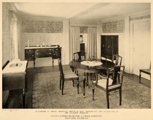 1918-ad-sheraton-design-colonial-interior-dining-room-original-print-ad