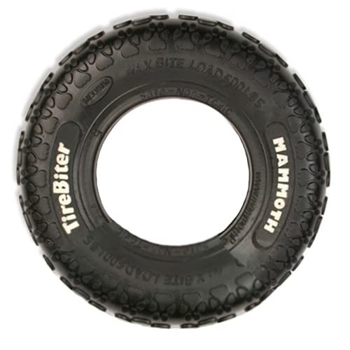 TireBiters Large Chew Toy, Black, 10-Inch