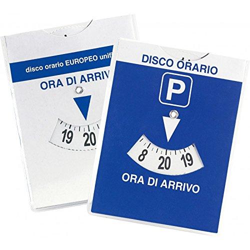 Disco orario europeo maxi auto in parcheggio blu 12x15 con quarto d'ora bicolore Agendepoint.it