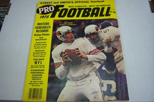 Pro Football Street and Smith's Official Yearbook 1975