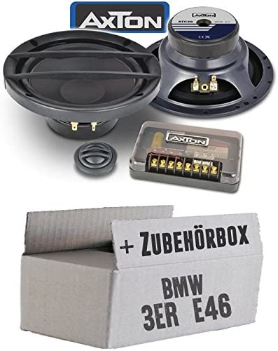 Lautsprecher Boxen Axton Atc26 16cm 2 Wege Kompo System Auto Einbauzubehör Einbauset Für Bmw 3er E46 Just Sound Best Choice For Caraudio Navigation