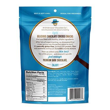 UNDERCOVER CHOCOLATE CO Dark Chocolate Sea Salt Quinoa Snack, 2 OZ by UNDERCOVER CHOCOLATE CO (Image #2)