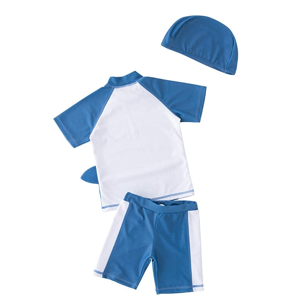 95edb8ae7f Amazon.com: Baby Toddler Boys Two Pieces Swimsuit Set Boys Long Sleeve Crab  Bathing Suit Rash Guards with Hat UPF 50+: Clothing