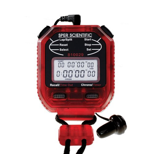 Sper Scientific 810029AR Stop Watch with Earpiece