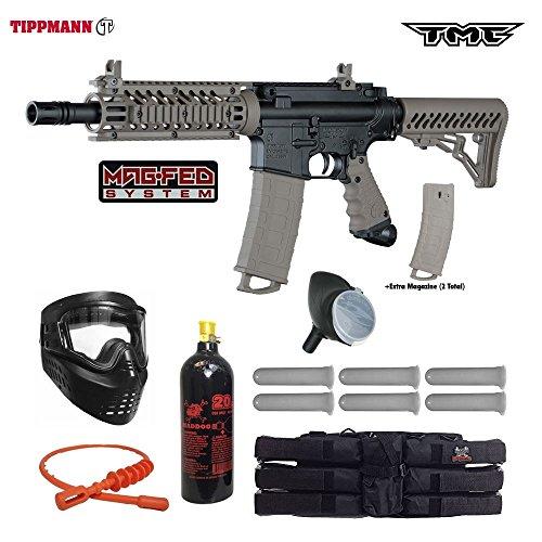 Tippmann TMC MAGFED Titanium Paintball Gun Package - Black/Tan