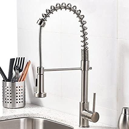 kitchen pull nickel throughout faucet the brushed faucets most top house out new best decor prepare single handle