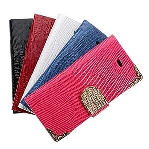 Bling del tirón la caja de cuero de la bolsa magnética carpeta para el iPhone 5 5S Opción: Azul