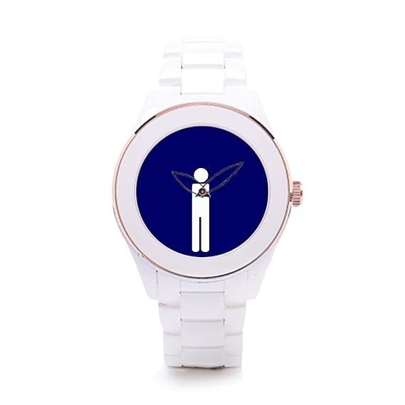 Algunos diferentes hombres relojes de cerámica blancos para niños: Amazon.es: Relojes