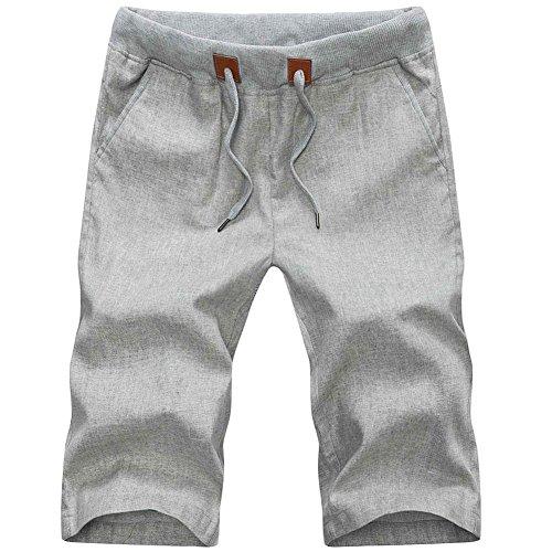 Plaid Plain Elastic Drawstring Shorts product image
