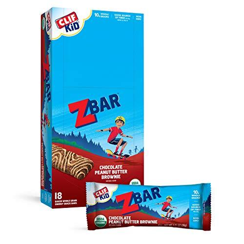 🥇 CLIF KID ZBAR – Organic Granola Bars – Chocolate Peanut Butter –