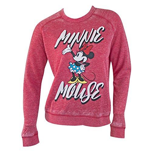 Disney Minnie Mouse Women's Crewneck Sweatshirt Small