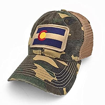 Colorado Flag Patch Trucker Hat, Camouflage
