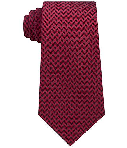 Sean John Mens Houndstooth Necktie Red One Size