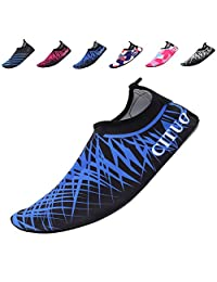 EQUICK Water Shoes Lightweight Aqua Socks Barefoot Anti slip Sole Beach Pool Surf Exercise Women Men