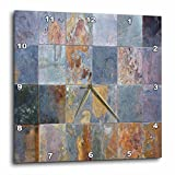 Cheap 3dRose Yves Creations Rusted Tile Wall Clock, 10 by 10-Inch