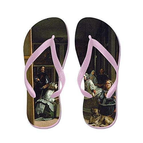 Cafepress V, C.1656 @oil På Canvasa - - Flip Flops, Roliga Rem Sandaler, Strand Sandaler Rosa