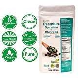 Biophyto-Chlorella Spirulina 2 in 1 Tablets- 1250 Counts- Broken Cell Wall- Vegan- 83 Days Supply- Vegan Protein- Non-GMO- Iron, B12, Chlorophyll, Calcium- 100% Pure-Natural Energy Supports