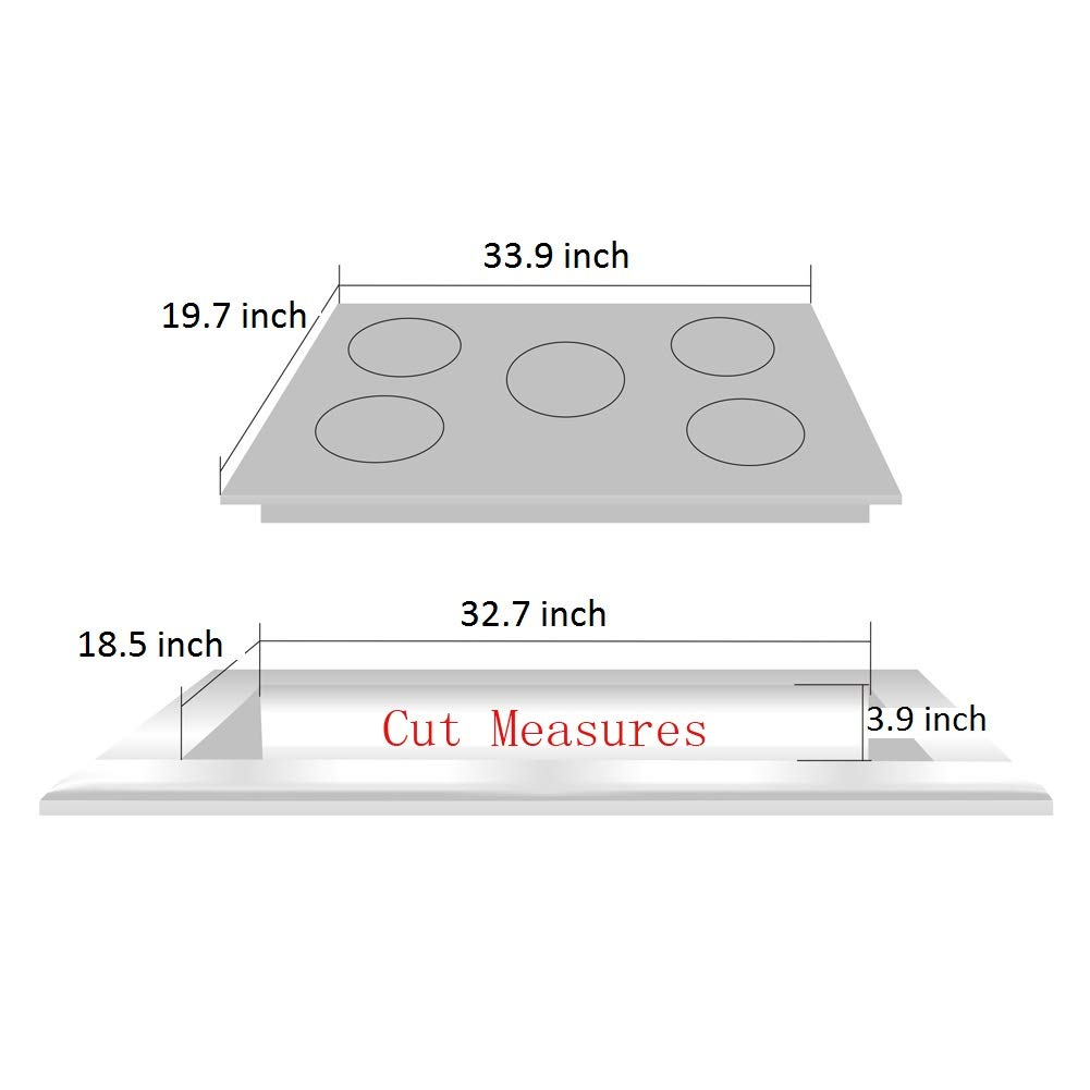 Deli-kit DK258-A05 34 inch Gas Cooktop gas hob stovetop 5 burners LPG//NG Dual Fuel 5 Sealed Burners Stainless Steel 5 Burner Built-In gas hob 110V AC pulse ignition gas stove
