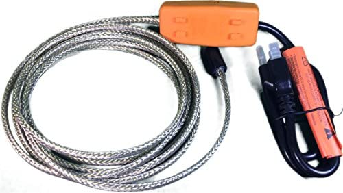 Heat Tape Easy Heat Freeze Protection Cable Waterline Heater Pre-cut to 20 Foot includes Installed Plug Head