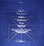 3 Pc Square Set 8'',10'',12''- 1/8'' Clear Acrylic - Quilting Templates- No seam