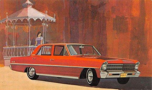 Nova Sedan - 1967 Cheby II Nova Sedan Early Auto Car Vintage Postcard K79918