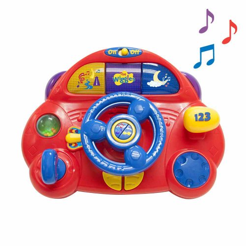 The Wiggles Wiggly Steering Wheel Activity Toy