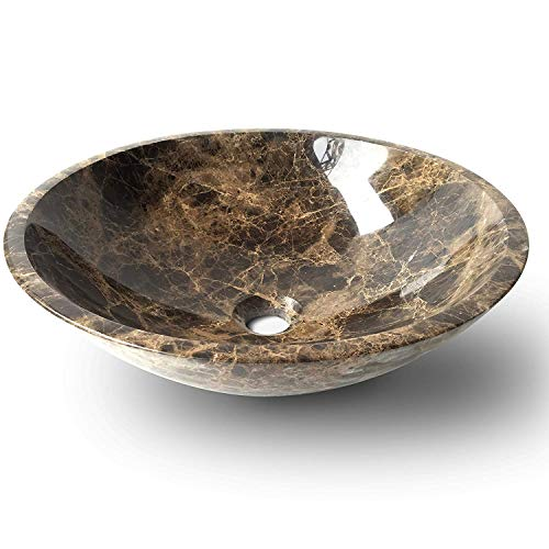 430EM01 Spain Emperador Dark Marble Natural Stone Vessel Sinks Bathroom Washbasins