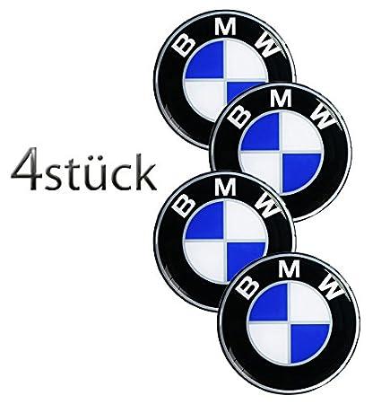 Unbekannt BMW & # x2605; 4 pieza & # x2605; 90 mm Pegatinas Emblema para llantas Buje Tapa Tapacubos: Amazon.es: Coche y moto