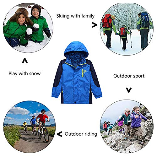 ecce478a3 KID1234 Boys  Lightweight Rain Jacket Quick Dry Waterproof Hooded ...