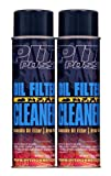 Pit Posse PP3232-2 2-12Oz Cans Of Oil Filter Cleaner Degreaser Motorcycle ATV Dirt Bike Made In USA