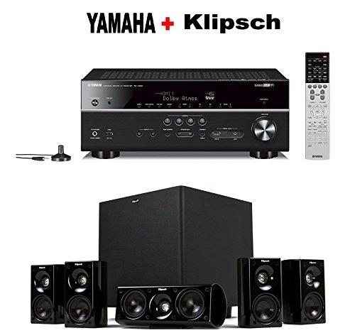 Yamaha-Expandable-Audio-Video-Component-ReceiverBlack-RX-V683BL-Klipsch-HDT-600-Home-Theater-System-Bundle