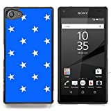 Graphic4You Stars Pattern Design Thin Slim Rigid Hard Case Cover for Sony Xperia Z5 Compact (Royal Blue)