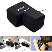 Goalftek USB Big Enter Key Pillow Desktop Nap Pillow Stress Relief Toy Gift,Big Enter Key Throw Pillows with USB Office Stress Relief Creative Keyboard Pillows Doll Toy Vent Tools Gifts