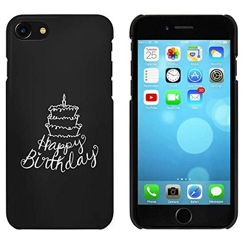 Noir 'Happy Birthday Gâteau' étui / housse pour iPhone 7 (MC00077565)