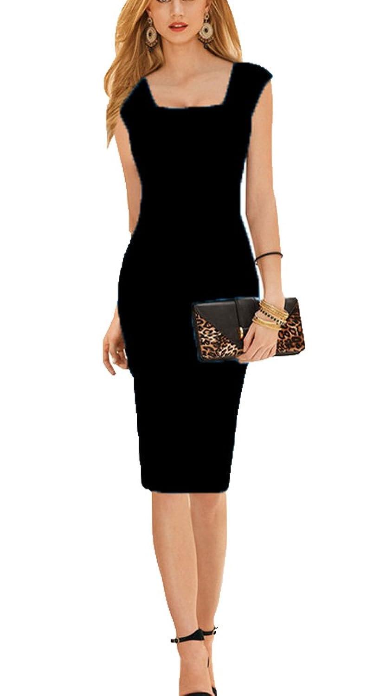 cb490470e3699 durable modeling REPHYLLIS Women Elegant Sleeveless Wear to Work Cocktail  Party Slim Pencil Dress