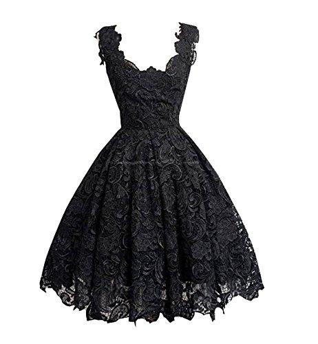 Nite closet Gothic Dresses for Women Lolita Black Lace Costume Floral No Sleeve (Black, (Sleeves Lolita Dress)
