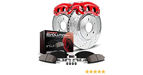 Front Only Power Stop KC2936 1-Click Performance Brake Kit with Calipers