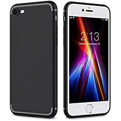 iPhone 8 Case, iPhone 7 Case,Nlinta Ultra Thin TPU Soft Slim Cover Case Durable Flexible Anti-Scratch full Protective for Apple iPhone 7/iPhone 8 - Black