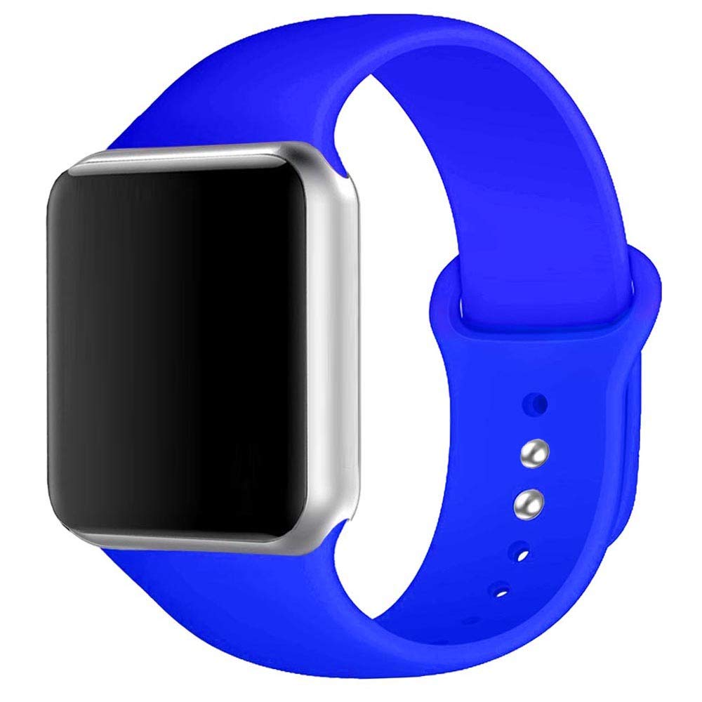 Winso Silicone Watch Band 38mm 40mm 42mm 44mm S/M M/L for Series 4/3/2/1 (Royal Blue, 42(44) mm M/L)