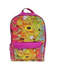 Kids Preferred Emoji Pink Backpack Plush Toy