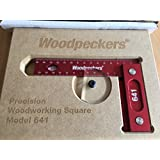 """Woodpeckers Precision Woodworking Square 6"""" x 4"""",Wall-Mountable, Metric"""