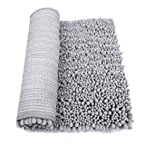 "HomDSim 30"" x 20"" Non slip Chenille Bathroom Bath Shower Rugs Mat Carpet Floor Plush Absorbent Luxury Microfiber Bristles Soft Shaggy Washable Surface Textured"