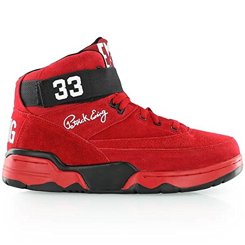 Ewing Athletics Ewing 33 Mid Men's Basketball Shoes 1EW90144-602 Red 11 M US - Patrick Ewings 33 High