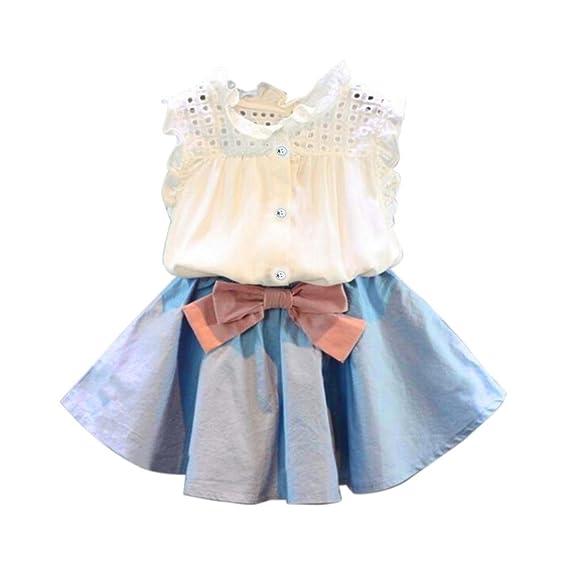 Conjuntos de ropa, Dragon868 2018 Más reciente niñas Baby chaleco sin mangas + bowknot falda