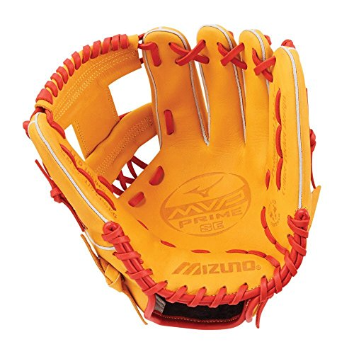 Mizuno MVP Prime SE GMVP1154PSE6 Infield Model Gloves, Cork/Red by Mizuno