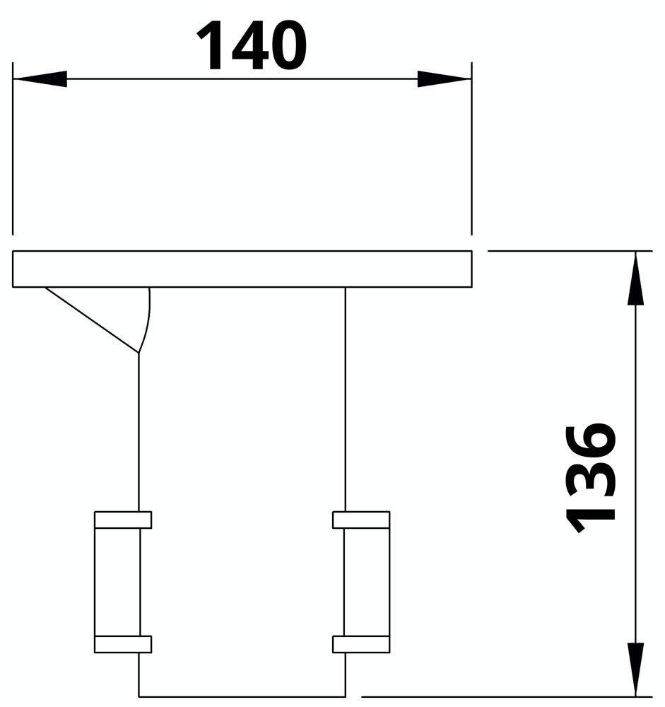 Schrauben feuerverzinkt /Ø 48,3 mm inkl Fenau Grund-Boden-Rohrverbinder Boden-Muffe//Boden-H/ülse Temperguss galvanisiert