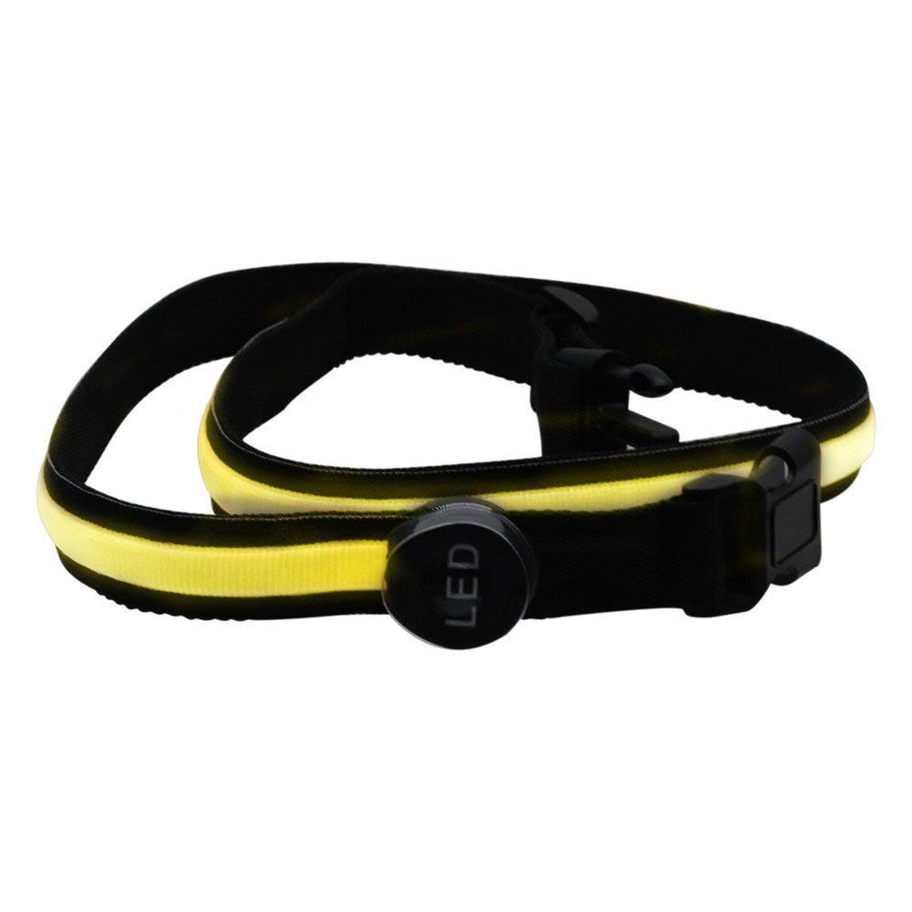 Ruiyue 78cm LED Flashing Waistband Safety Reflective Belt Waistband Bicycle Running Hand Accessories Tracksuit Yellow Led (Color : Yellow)