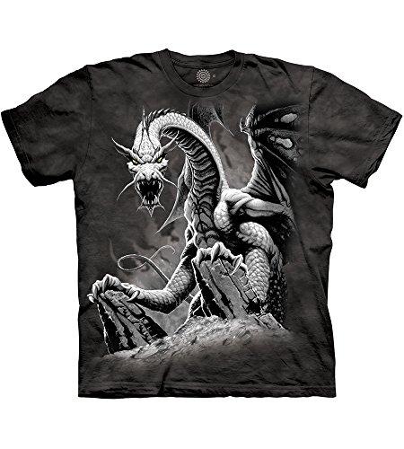 Black Dragon T-Shirt 100% Cotton Short Sleeve Shirt Pre-Shrunk, Black (Adult XL) ()