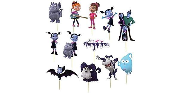 12 piezas de decoración para cupcakes de Vampirina